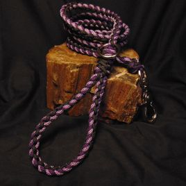 Purple and Black Paracord Leash