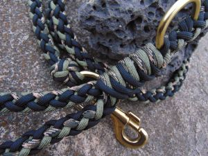 Black, Khaki and Camo 8 strand Paracord Leash