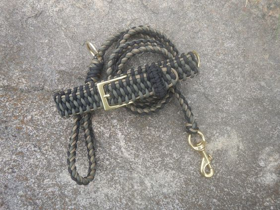 black OD Green and Coyote Leash and Collar Combo