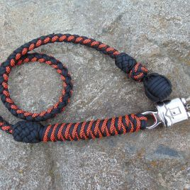 Orange Diamonds and Black Biker Whip