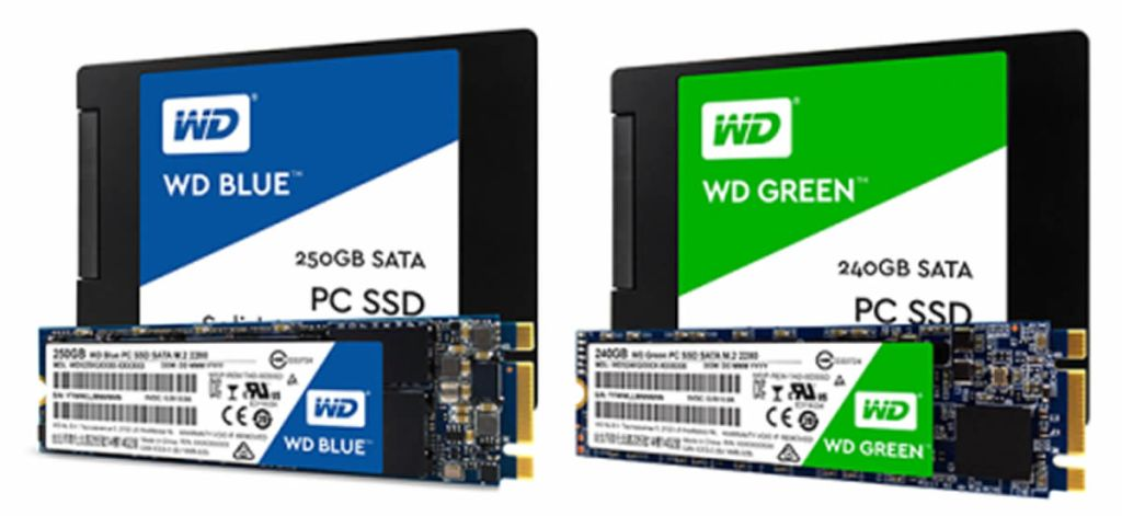 SSD WD-Green WD-Blue