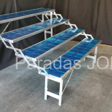 Mesa plegable de aluminio tipo escalera de 4 estantes