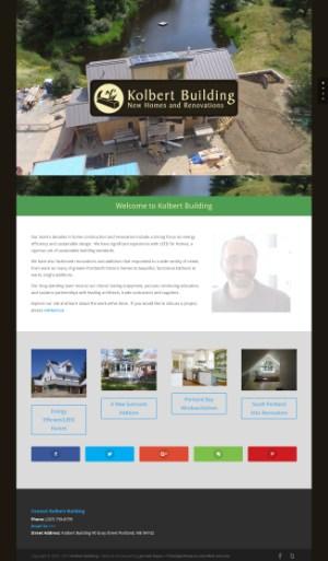 Kolbert Building Website Screenshot