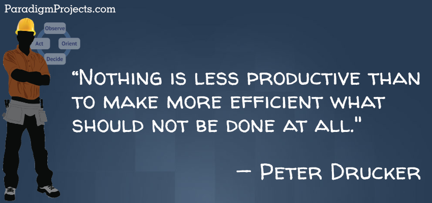 Nothing Is Less Productive Than To Make More Efficient What Should Not Be Done At All