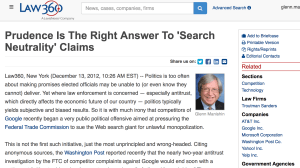 "Prudence Is The Right Answer To ""Search Neutrality"" Claims"