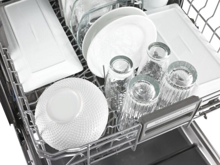 kitchenaid dishwasher that smells and