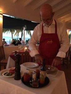 Jacques preparing the steak tartar