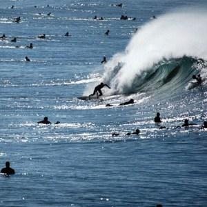 This weekend's surf line-up at the Oceanside Pier. Photo credit: @zachcordner