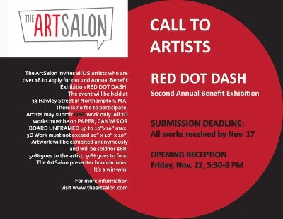 The ArtSalon's Red Dot Dash art exhibit and sale to benefit artists