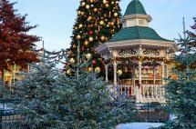 Visit Disneyland Town Square Winter Wonderland