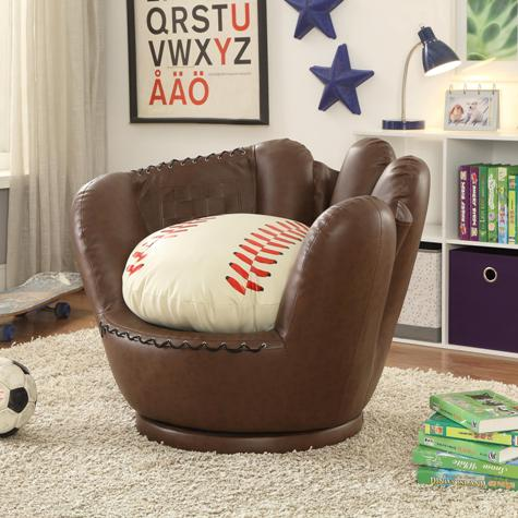 Baseball Glove Chair Ottoman  Paradise Furniture Store