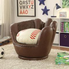 Kids Chair And Ottoman 2 Rocking Chairs Baseball Glove Paradise Furniture Store