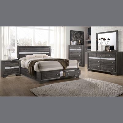 regata rustic grey bedroom set