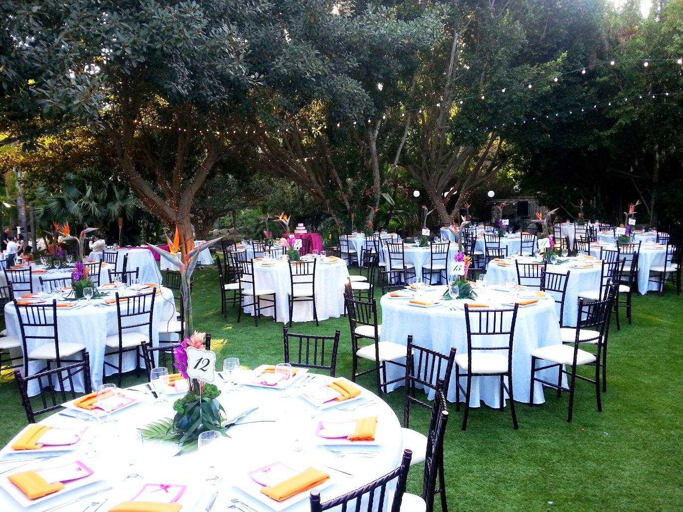 Garden Receptions  Paradise Falls Weddings