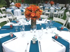 Teal and Orange Centerpiece