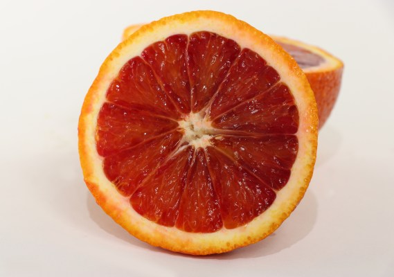 Center of Blood orange fruit