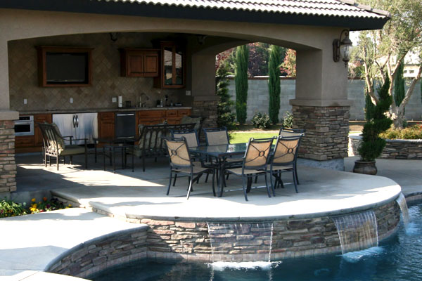 where to start when remodeling a kitchen undermount corner sink outdoor living – paradise pools and spas bakersfield