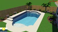 Paradise Grecian Swimming Pool with Raised Deck  Paradise ...