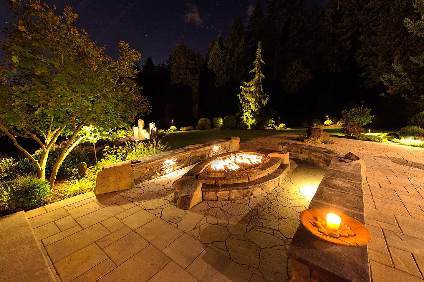 luxury outdoor living spaces paradise