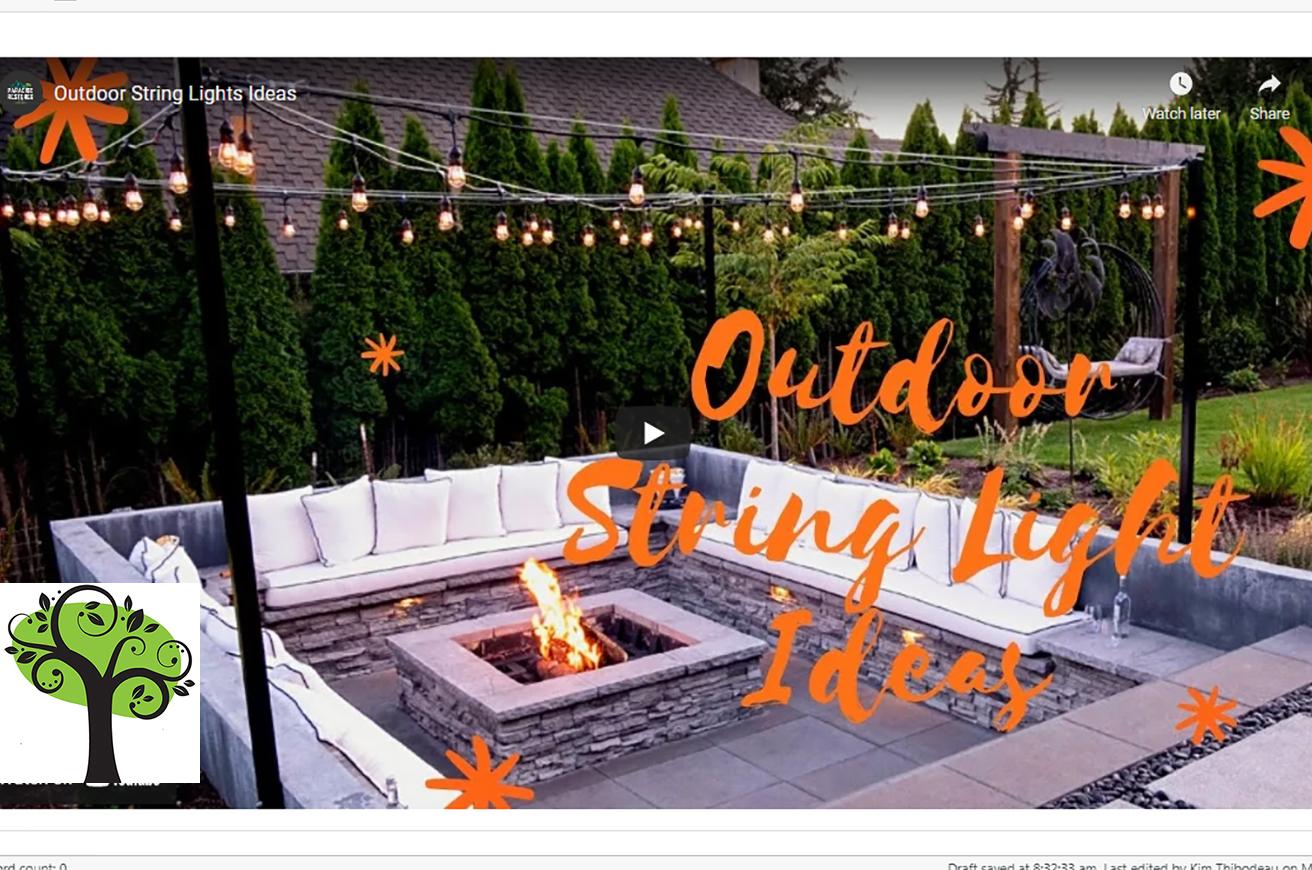 outdoor string lights ideas paradise