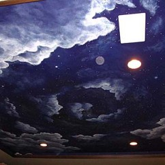 Small Space Living Rooms Room Furniture Springfield Mo Cloud Ceiling Murals And Painted Phrases - Paradise ...