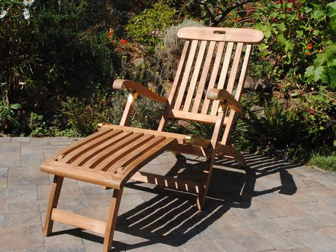 teak steamer chair cane dining room chairs paradise