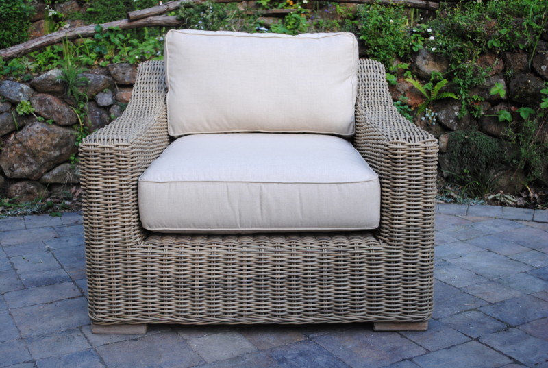 sunbrella outdoor chair cushions office chairs staples canada tuscany collection wicker lounge - paradise teak