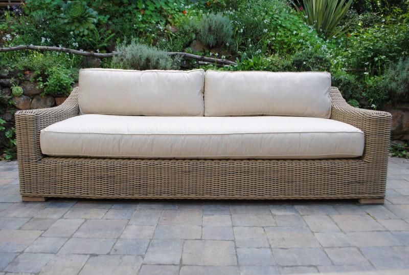 Tuscany Collection Wicker Sofa  Paradise Teak