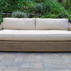 Sunbrella Sofa Cushions Covers Ready Made Uk Tuscany Collection Wicker - Paradise Teak