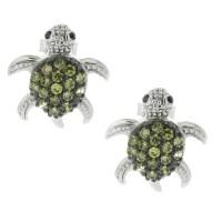 Sterling Silver Turtle Earrings Studs - basement wall studs