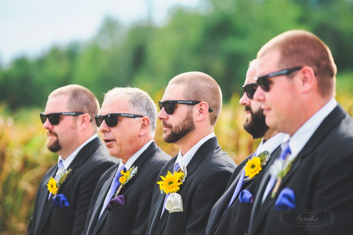 Groomsmen sunglasses | Paradis Photography #MaineWeddingPhotographer