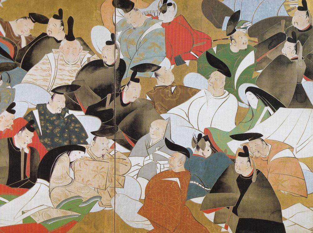 酒井抱一 Sakai Hoitsu_三十六歌仙図屏風 The thirty-six immortal poets