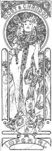 アルフォンス・ミュシャ 塗り絵 coloring Mucha_chandon-cremant-imperial-rinkaku00