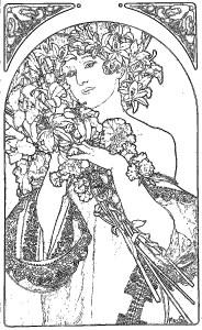 アルフォンス・ミュシャ Alphonse Mucha 塗り絵 coloring