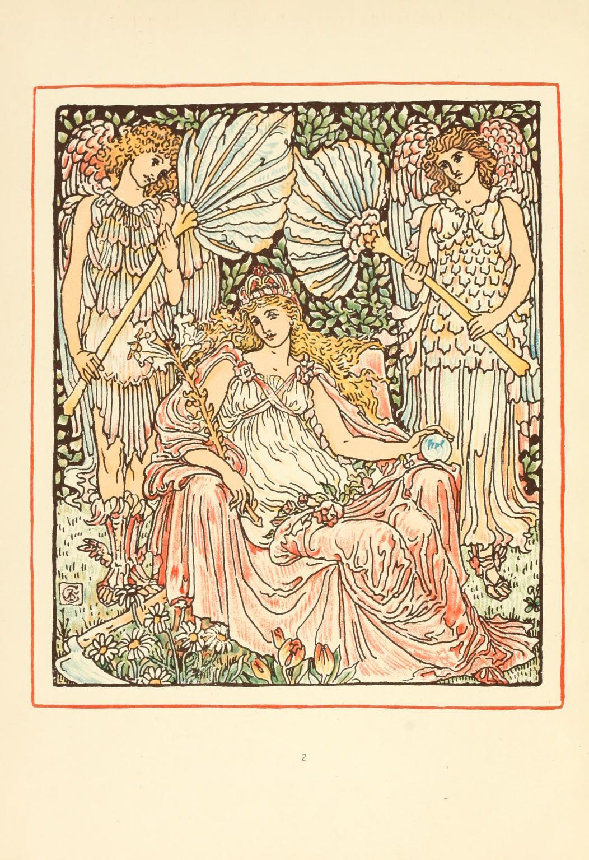 ウォルター・クレイン Walter Crane 夏の女王、またはユリとバラの馬上試合 Queen Summer, or the Tourney of the Lily & the Rose