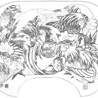 浮世絵の塗り絵 13(葛飾北斎)