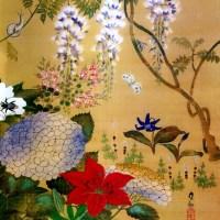 四季草花虫図 2