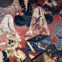 遊女歌舞伎図貼付屏風(出光美術館)