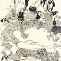 果蔬涅槃図 Kaso Nehan-zu (Scene of Buddha's Nirvana by Vegetables)