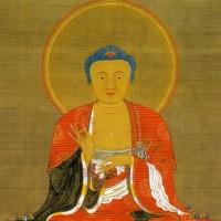 動植綵絵 釈迦三尊像  Shaka Sanzon-zo(Shaka Triad)