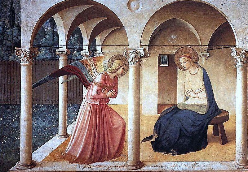 フラ・アンジェリコ『受胎告知』