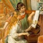 ルノアール『ピアノに向かう娘たち』