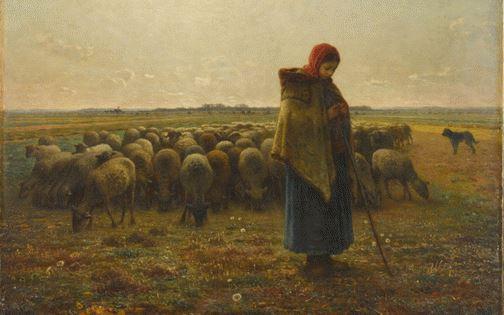 Jean-François Millet Bergère avec son troupeau