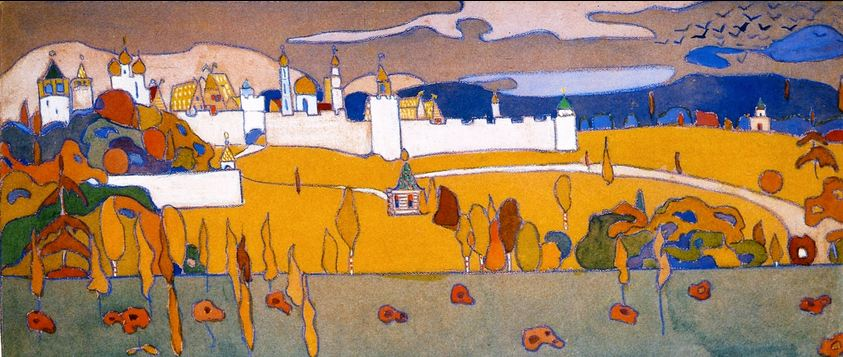 Kandinsky_Walled City in Autumn Landscape