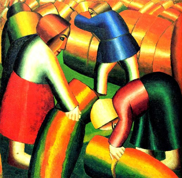 Malevich_taking-in-the-harvest-1911