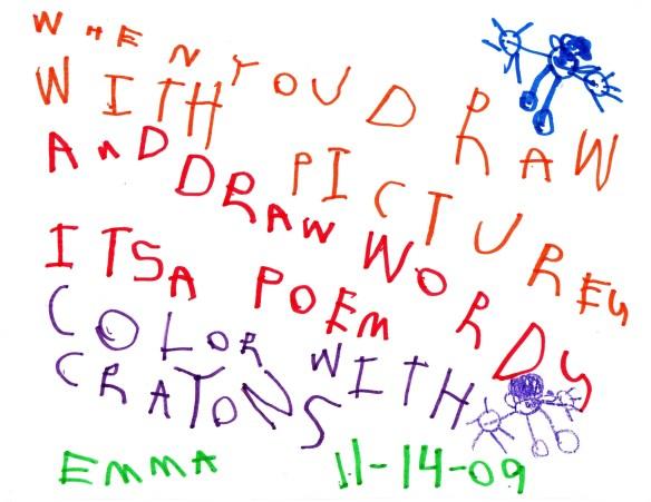 Emma's First Poem