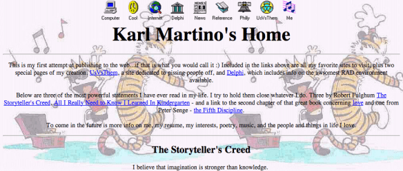 My home page in 1996