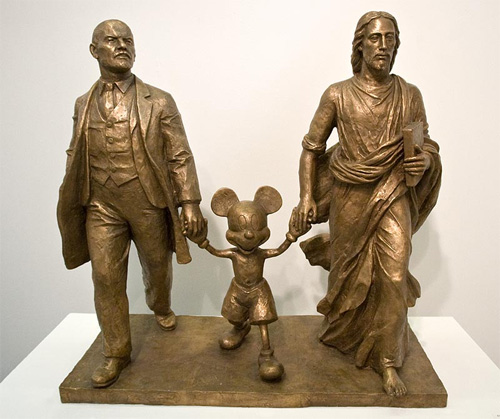 Thought an inclusion of a bronze Lenin, Mickey Mouse, and Jesus Christ seemed appropriate here.