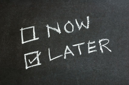 Reflections on procrastination, and its paradox
