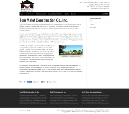 Tom Malot Construction Co., Inc. - Malot Companies